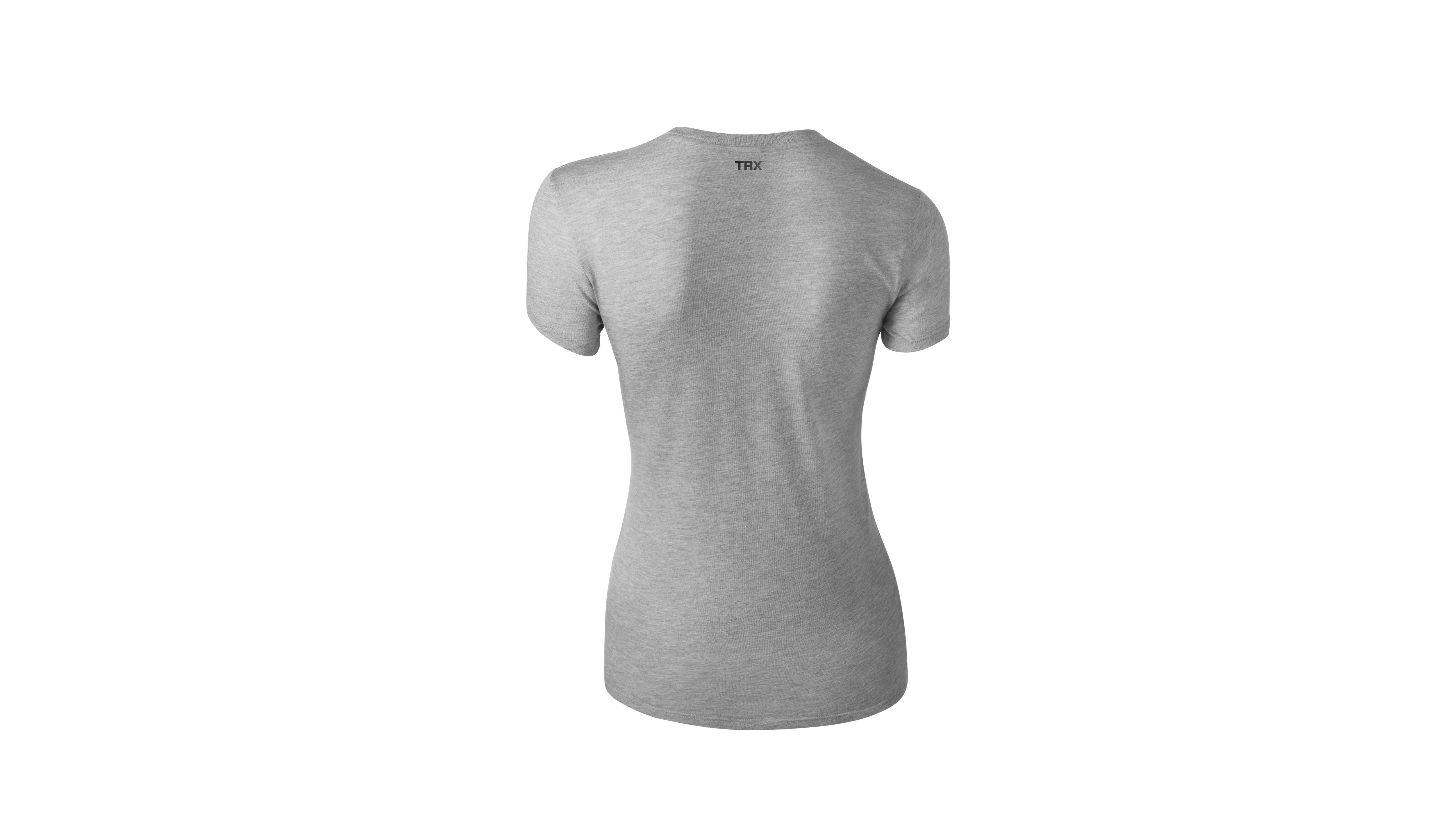 T-Shirt MYBYM Schwarz auf Grau Frauen Large