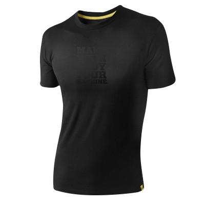 T-Shirt MYBYM Schwarz auf Schwarz Männer Small