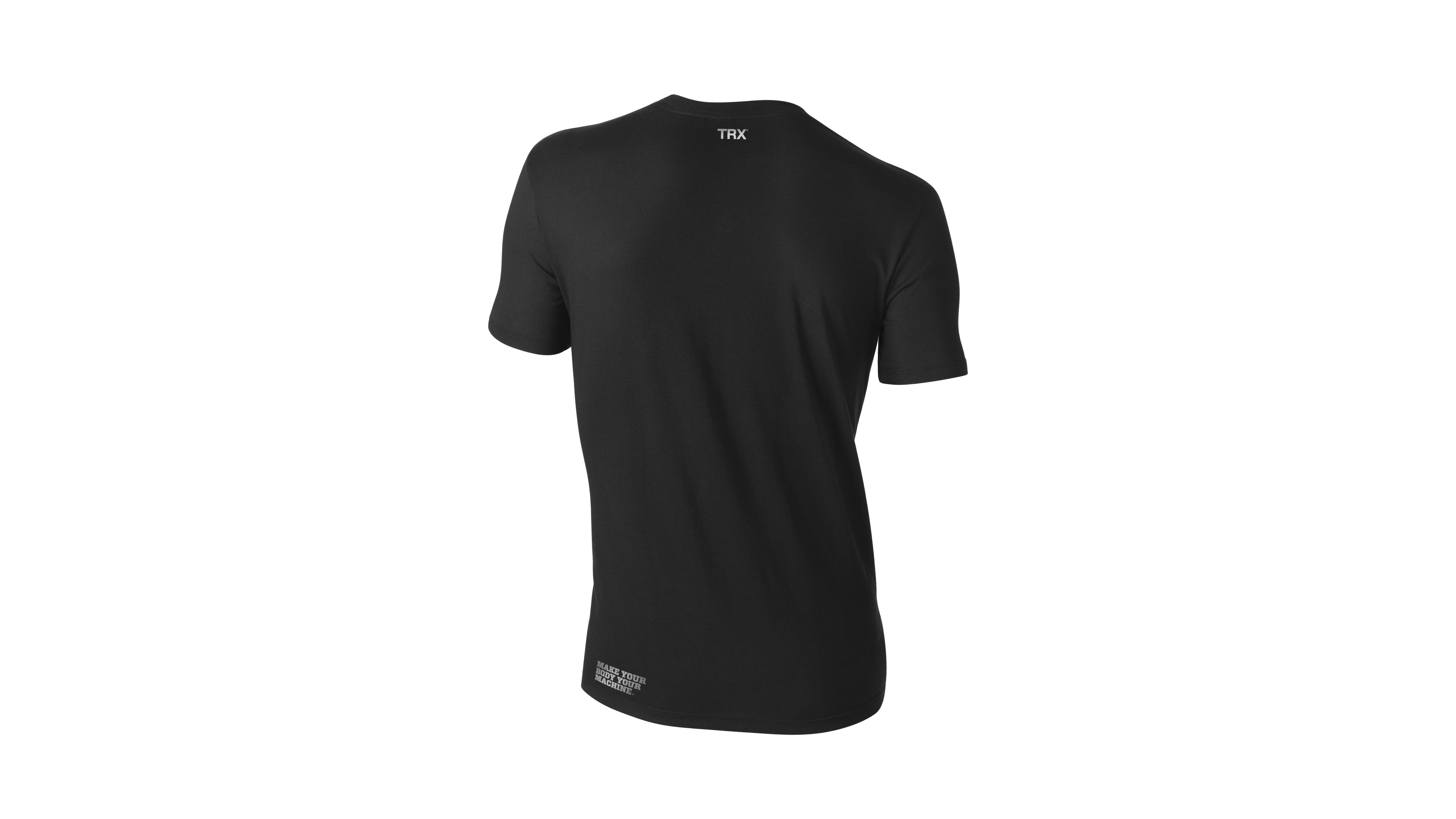 T-Shirt TRX  Weiß auf Schwarz Männer Small