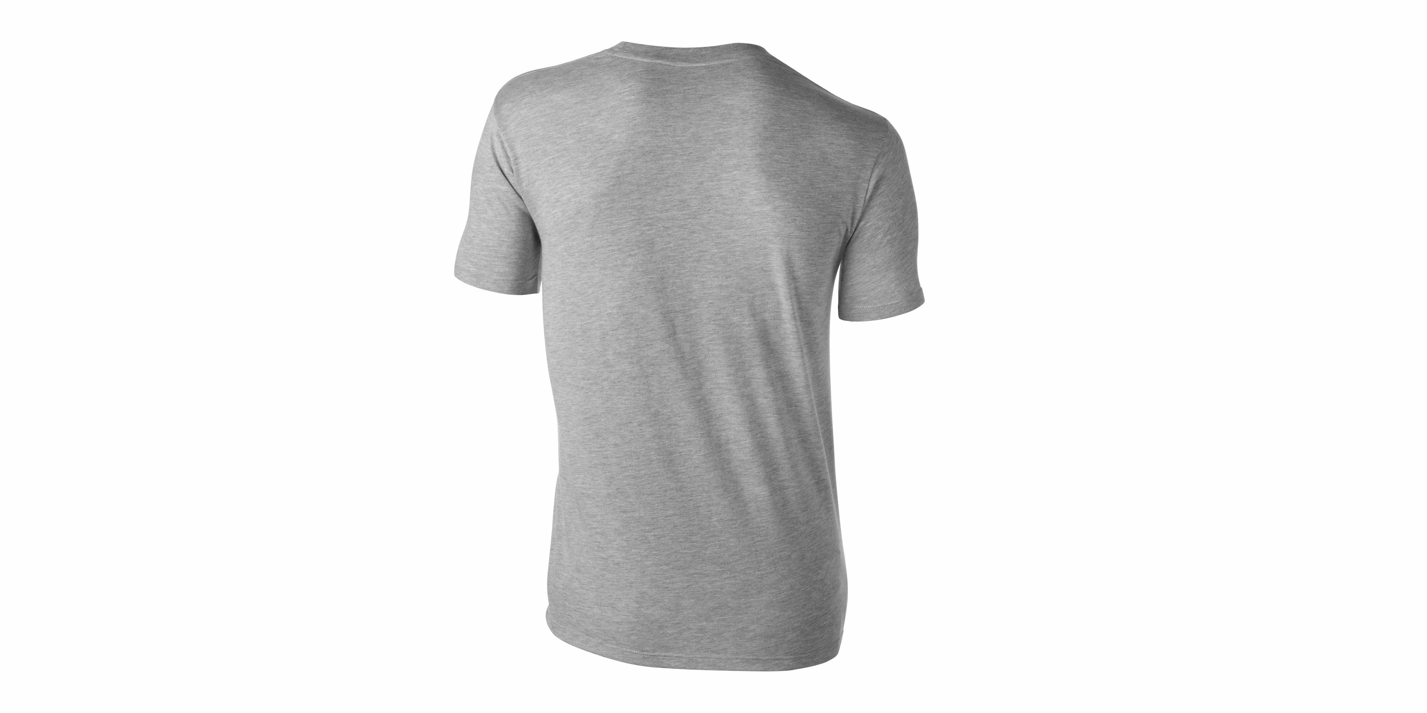 T-Shirt MYBYM Schwarz auf Grau Männer Small
